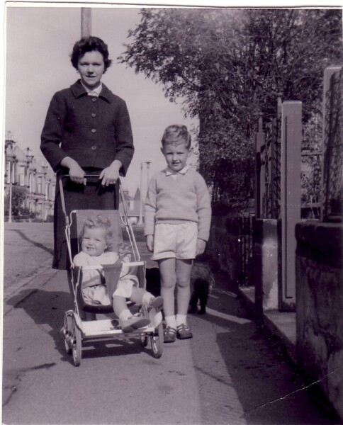 Mother With Two Children Out For Walk 1962