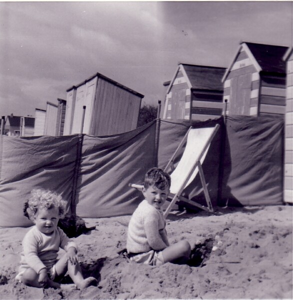Young Children Playing On The Beach At Earlsferry 1962