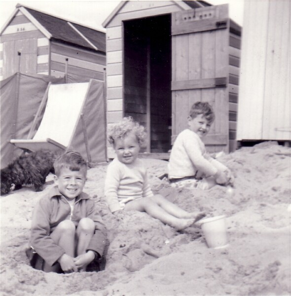 Children Playing On The Beach At Earlsferry 1962