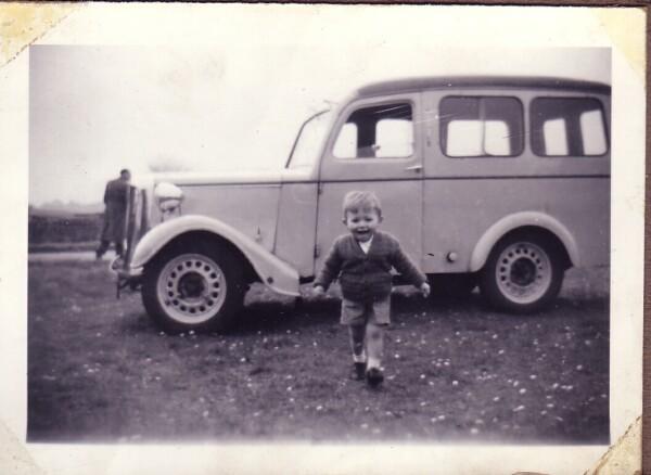 Young Boy Running Toward Camera 1959