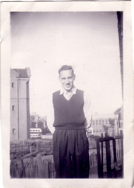 Man Standing In Garden 1950s