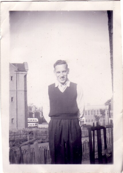 Man Standing In Garden At Lochend 1950s