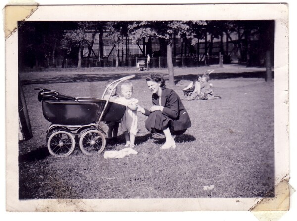 Family Out For A Walk To Pilrig Park 1950s