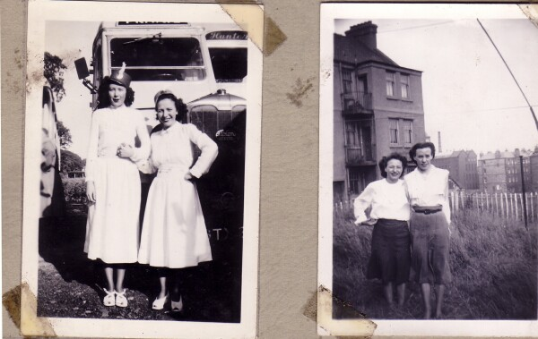 Pair Photographs Two Friends 1950s