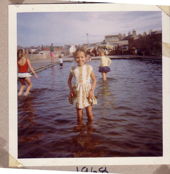 Girl Standing In Paddling Pool 1968