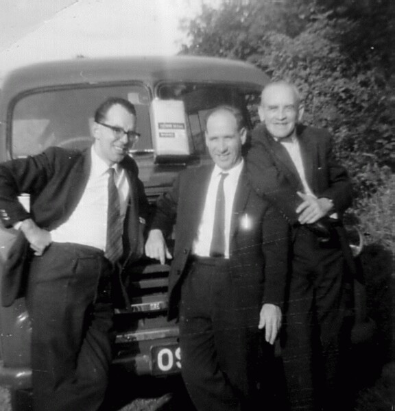 Work Colleagues Standing In Front Of Lorry 1967