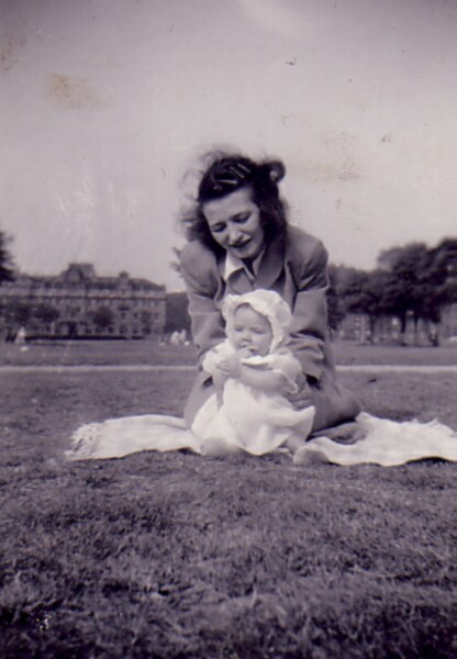 Mother With Baby Daughter On Leith Links 1960