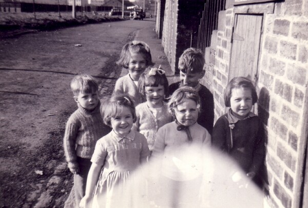 Gang Of Children Playing In The Street At Jewel Cottages 1962