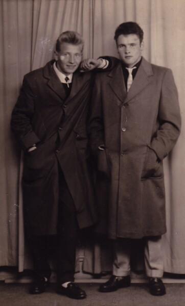 Studio Portrait Two Brothers 1957