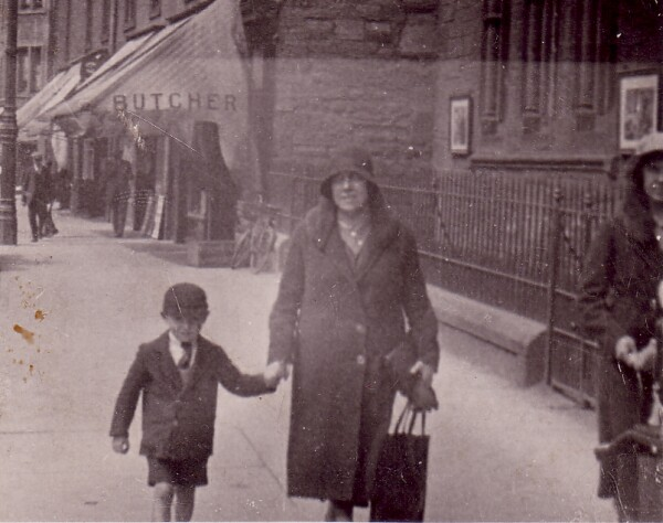 Mother And Son Walking Along Street c.1932