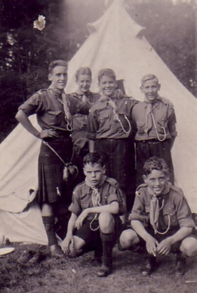 Group Of  Scouts At Summer Camp 1935
