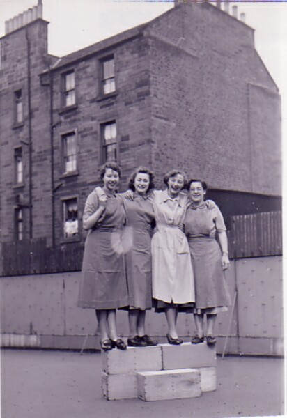 Nursery Nurses At Bonnington School, April 1954