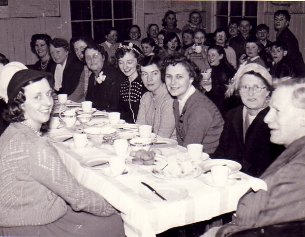 Milton House School Staff And Pupils At Jumble Sale Event 1955