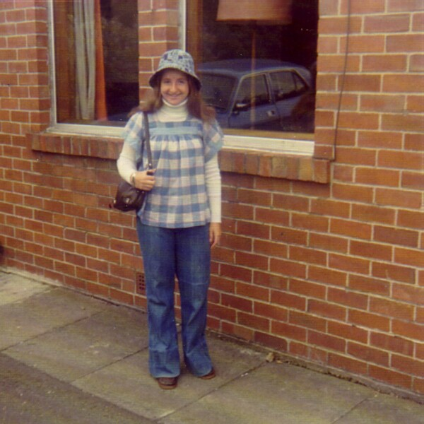 Young Woman Outside Her House On Colinton Road 1974