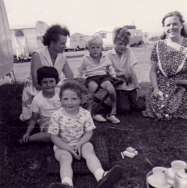 On holiday at caravan site 1963