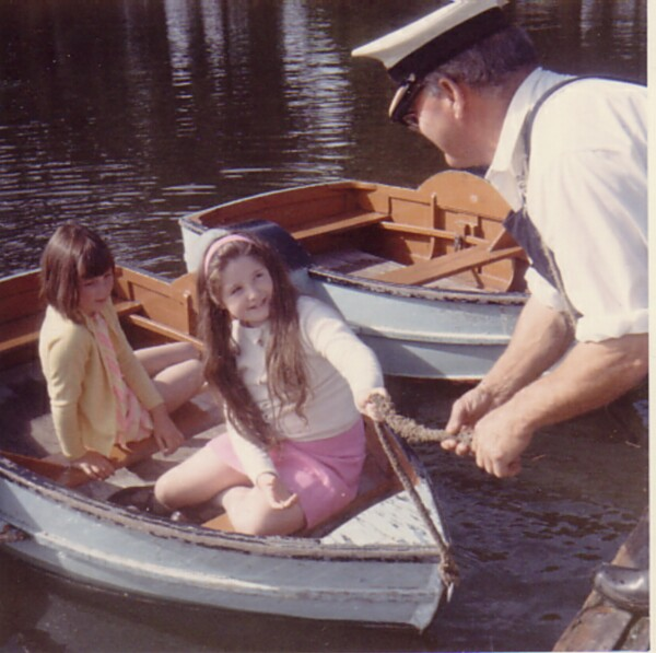 Two Girls About To Set Off On Boating Pond 1969