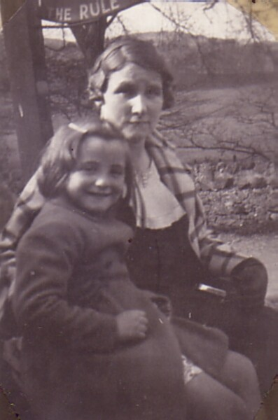 Mother And Daughter On A Trip To The Country c.1935