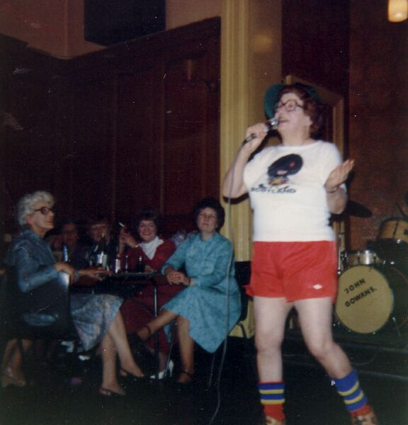 'Pie Night' Entertainment At Lochend 1989