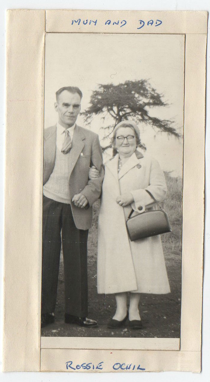 Kathleen Glancy's mum and dad at Rossie Ochil