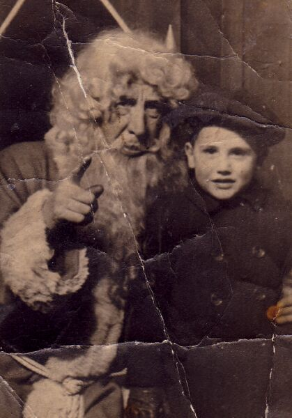 Department Store Santa With Young Boy 1950s