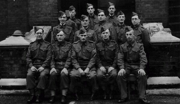 Members Of Home Guard In Front Of Waterworks 1940