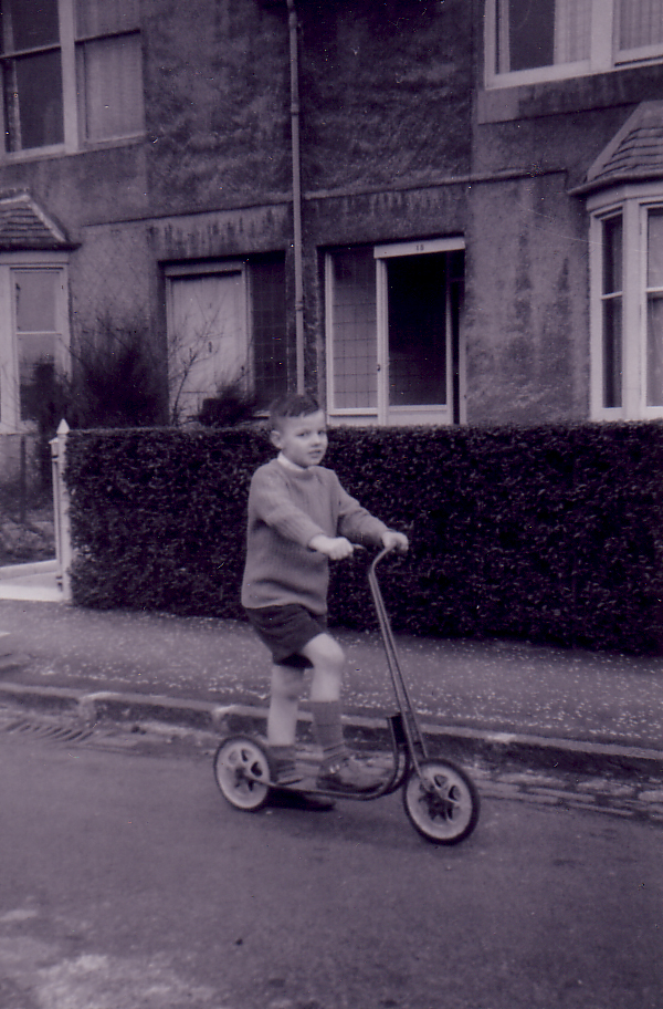Boy On Scooter At Bangholm Avenue 1961