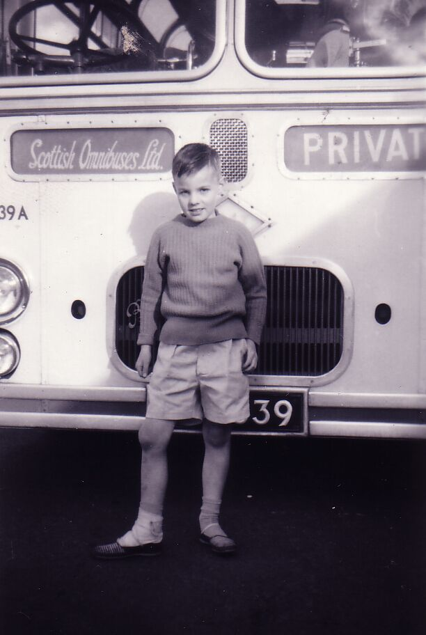 Boy On Bus Outing From Edinburgh To Ayr 1961