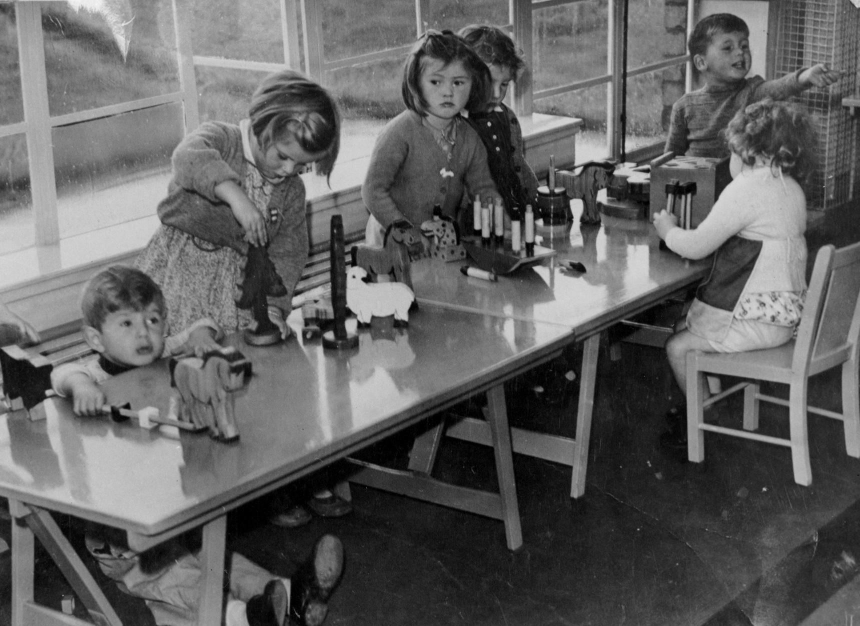 Nursery School Playtime, Sept 1946