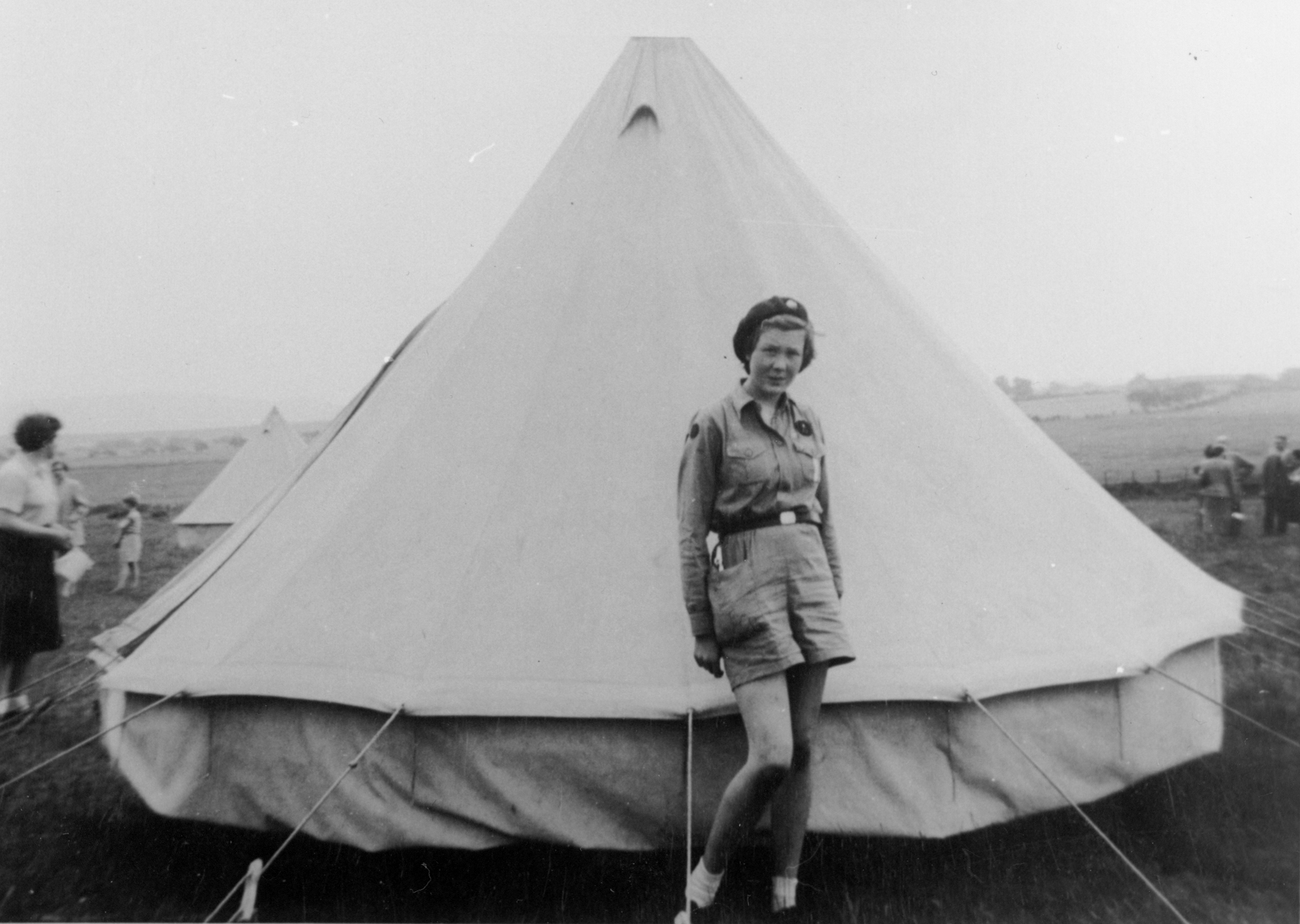 Girl Guide On Camp 1958