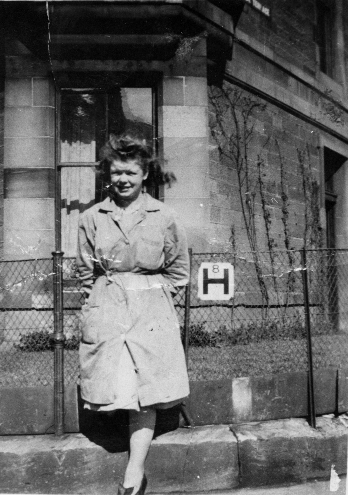 Young Woman Taking A Break At Nelson's Printing Works On Corner Of Parkside Terrace c.1948