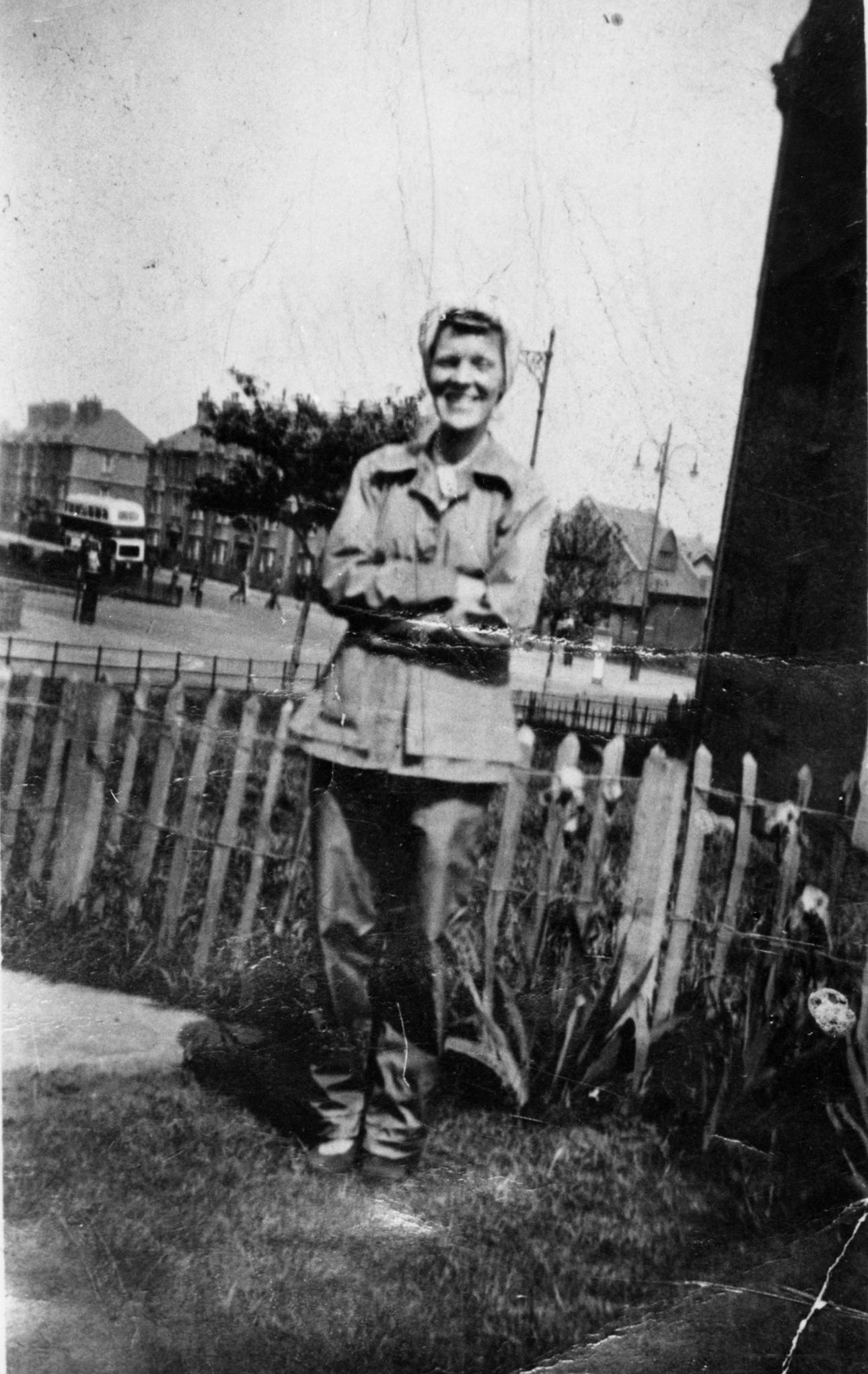 Woman In Workclothes In Garden 1940s