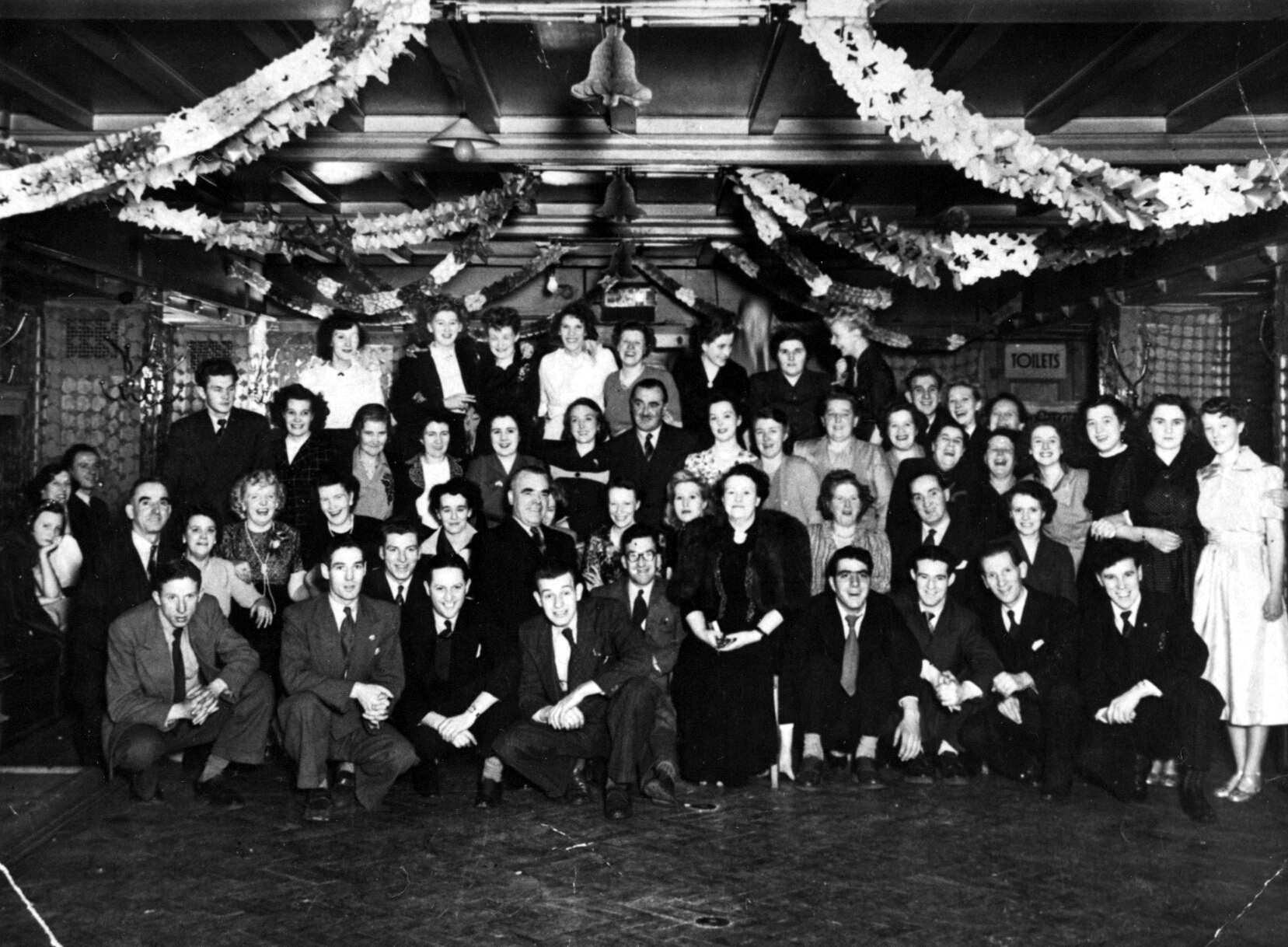 Christmas Function In The Oak Room Of The New Picture House, early 1950