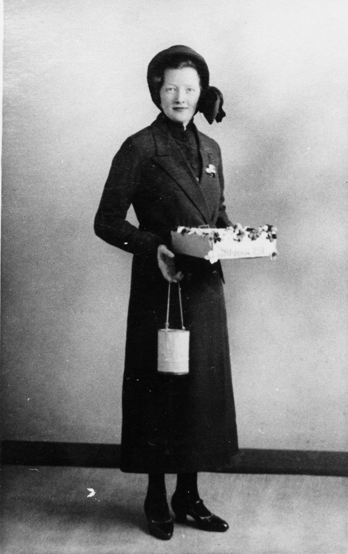 Studio Portrait Salvation Army Girl 1930s