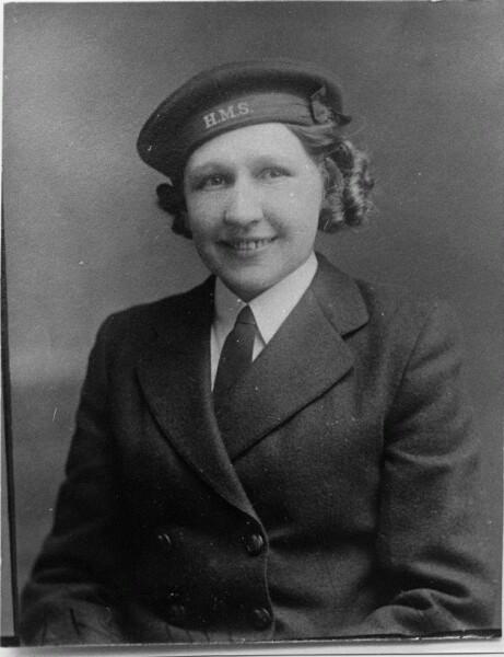 Studio Portrait Wren In Uniform 1941