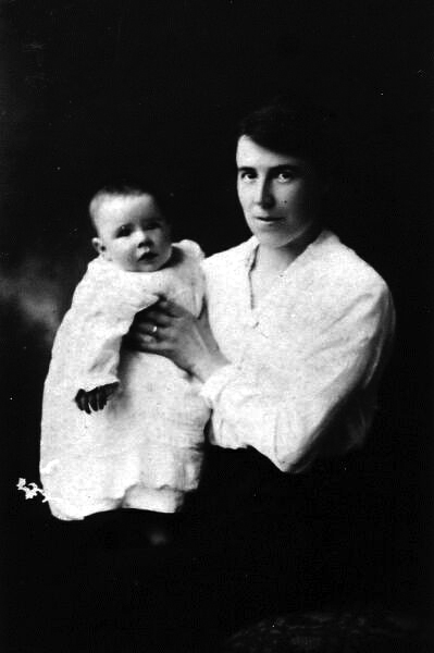 Studio Portrait Mother And Son 1921