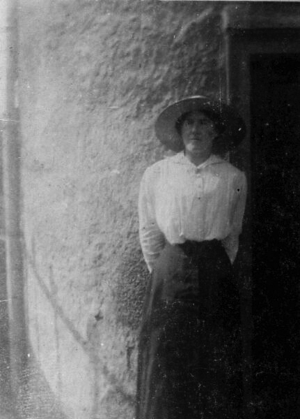 Woman Standing In Sunlight At 10 East Side, Prestonpans 1917