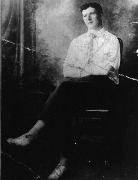 Studio Portrait Young Man 1910