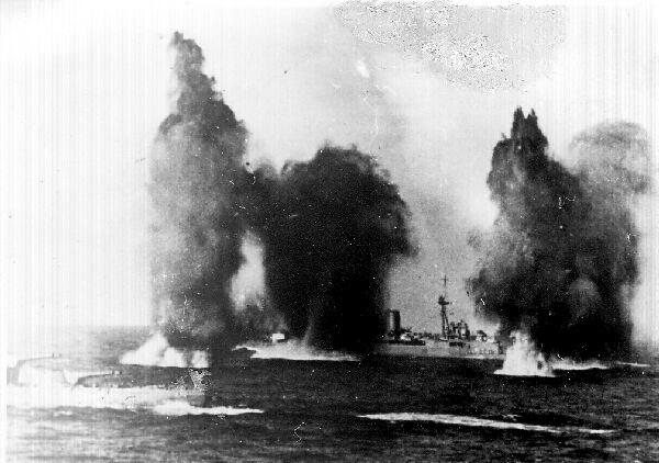 Battleships Under Attack c.1942