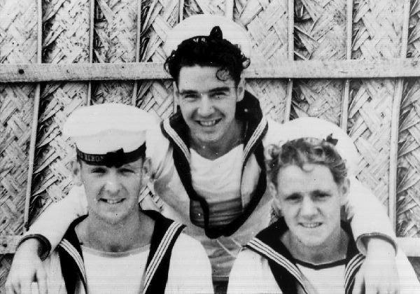 Three Royal Navy Sailors Off Duty 1944