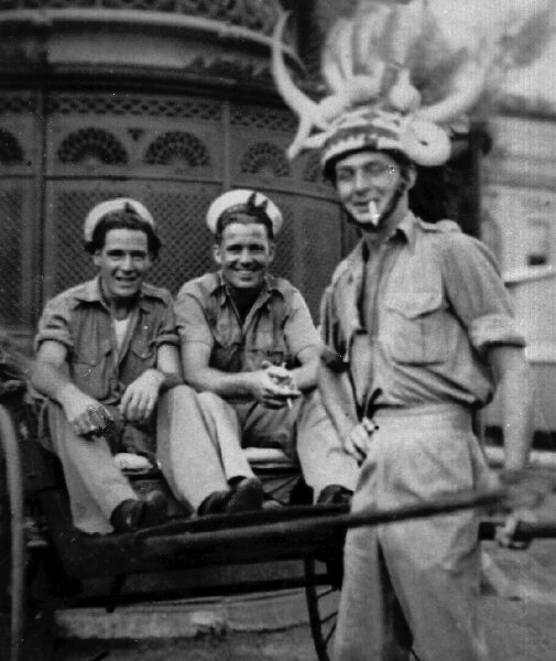 Three Fleet Air Arm Crew About To Return Home From South Africa, December 1945