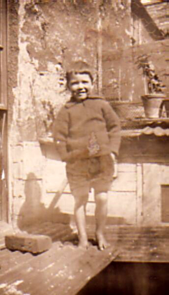 Young Boy Standing Barefoot At 10 East Side, Prestonpans c.1924