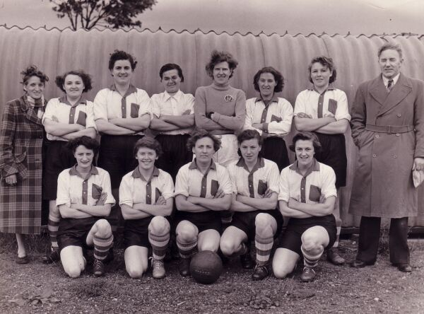 Edinburgh Dynamos Ladies Football Club Team In Away Strip, mid -1950s