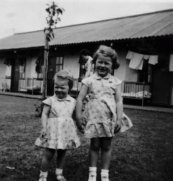 Two Young Girls On Holiday At Butlins, July 1956