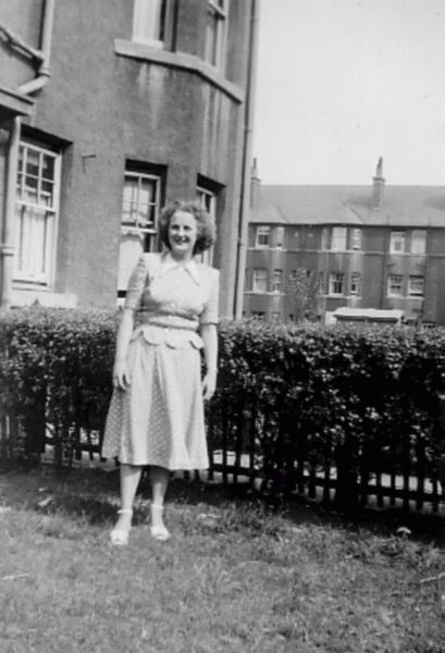 Woman Standing In Garden At 225 Easter Road c.1951