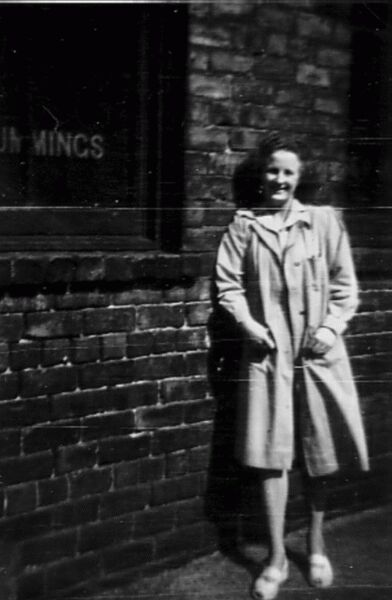 Standing Outside Cummings The Boxmakers Office c.1946