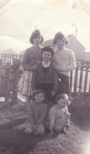 Group Portrait Childhood Friends At Oxgangs Brae 1961