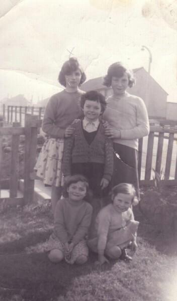 Group Portrait Childhood Friends At Oxgangs Brae 1961
