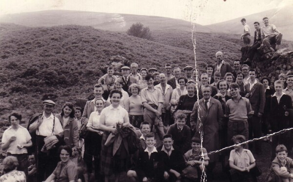 Ramblers In The Pentland Hills 1950s
