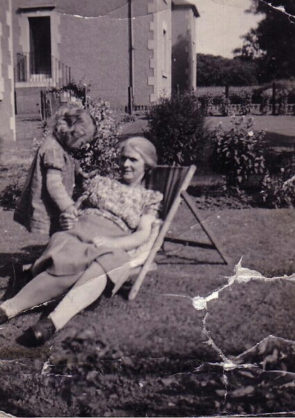 Grandmother Relaxing With Her Grandchild In Garden At Redford Road 1948