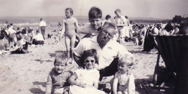 Family On Portobello Beach 1953